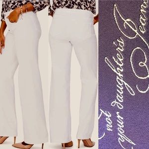 NYDJ Wide Leg Ivory Jeans Sz.10